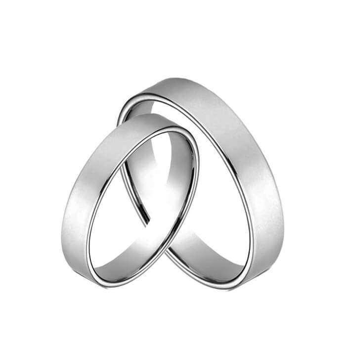 4 mm tradicinių žiedų pora